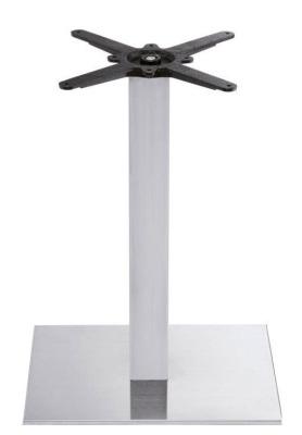 Cadiz Brushed Steel Table Base For Rectangular Table Tops