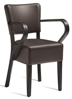 Dijon V2 Brown Leather Dining Armchair