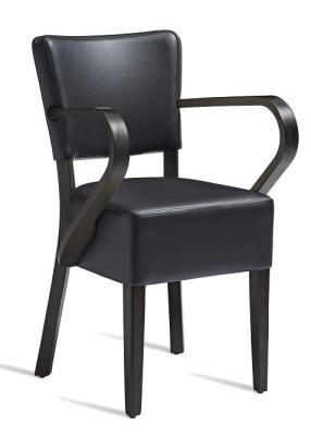 Dijon V2 Black Leather Armchair