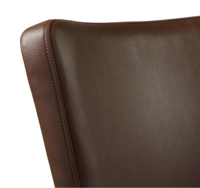 Dijon Dining Chair Brown Leather Detail
