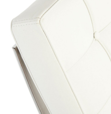 Barcelona White Leather Detail