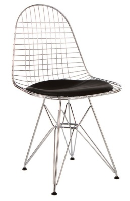 Eames Inspired DKR Chair In Chrome Front Angle