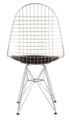 Eames Inspired DKR Chair With A Chrome Wire Frame Rear View