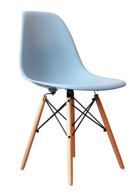 Eames Inspired Childs DSW Chair In Blue Front Angle Shot