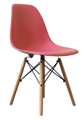 Eames Inspired Dsw Childs Chair With A Pink Seat Angle Shot