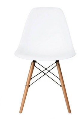 Eames Inspired DSW Chair Child Height With A White Shell Front View