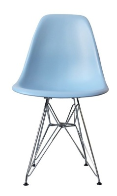 Eames Inspired Childs Dsr Chair In Blue Front View