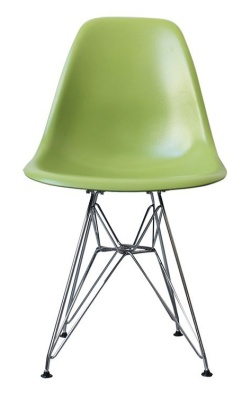 Eames Inspired Dsr Chair In Green Front View