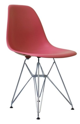 Eames Inspired Dsr Childs Chair In Pink Front Angle