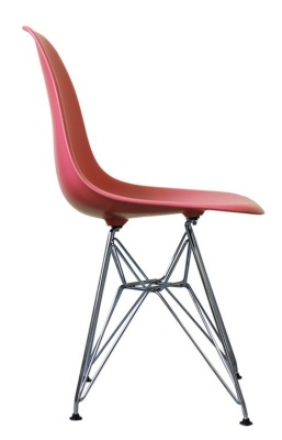Eames Inspired DSR Childs Chair In Pink Side View