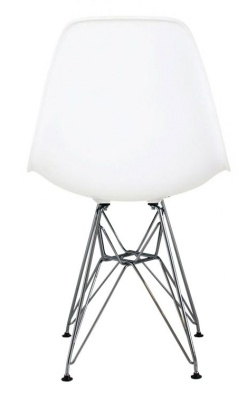 Eames Inspired Dsr Childs Chair In White Rear View
