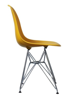 Eames Inspired Dsr Childs Chair In Yellow Side View