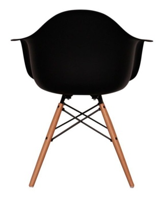 Eames Inspired DAW Childs Chair In Black Rear View
