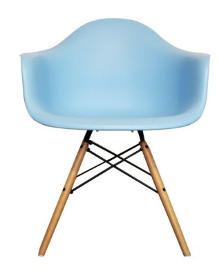 Eames Inspired DAW Childs Chair In Blue Front Shot