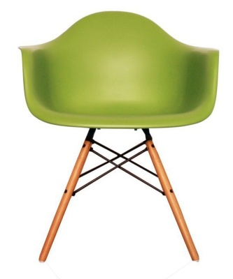 Eames Inspired DAW Childs Chair In Green Frint View