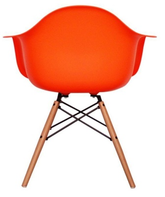 Eames Inmspired DAW Childs Chair In Orange Rear View