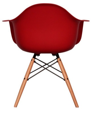 Eames Inspired DAW Childs Chair In Red Rear View