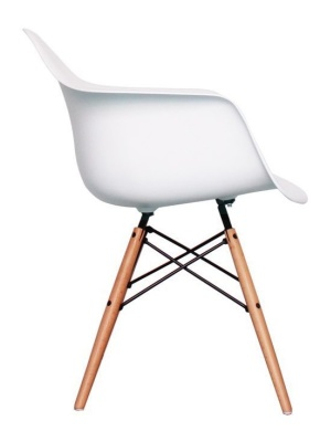 Eames Inspired Childs DAW Chair In White Side View
