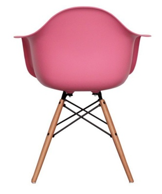 Eames Inapired C Hilds DAW Chair In Pink Rear View
