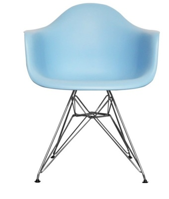 Eames Inspired DAR Childs Chair In Blue Front View