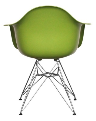Eames Inspired Junior DAR Chair In Green Rear View