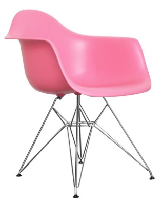 Eames Inspired DAR Chair In Pink Angle View