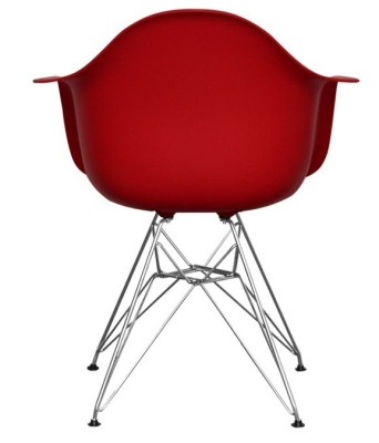 Eames Inspired Junior DAR Chair In Red Rear View