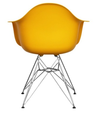 Eames Inspired DAW Chair In Yellow Rear View