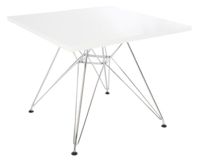 Eames DSR Table With A White Top Angle Shot