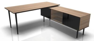 LOngon Chesnut Desk And Credenza
