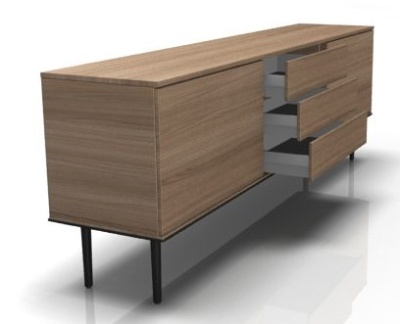 Longo Credenza With Drawers
