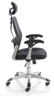 Ergo Tron Mesh Task Chair Side View
