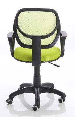 Turin Mesh Chair In Green Rear View