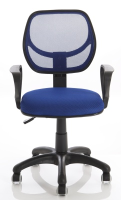 Turin Mesh Chair In Blue Front Shot