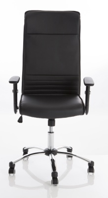 Turino Black Leather Exec Chair Front View