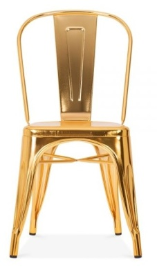 Xavier Pauchard Side Chair In Gold Front View