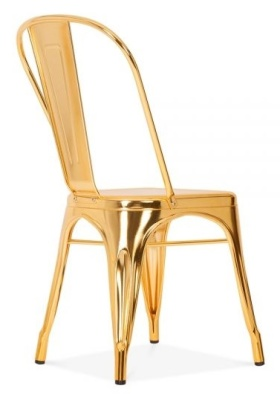 Xavier Pauchard Tollix Chair In Gold Rear Angle View