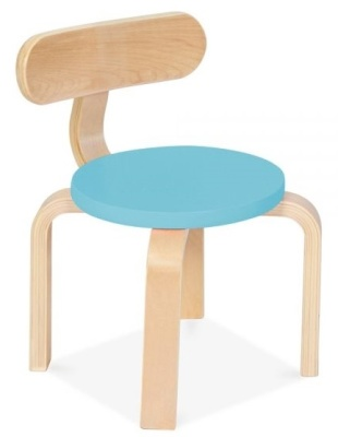 Chill Childrens Chair With A Light Blue Seat