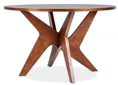 Icon Walnut Round Dining Table