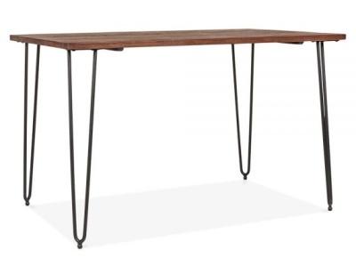 Hairpin Rectangular Table Black Frame 1