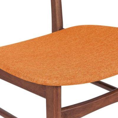 Ontario Chair Orange Fabric Detail