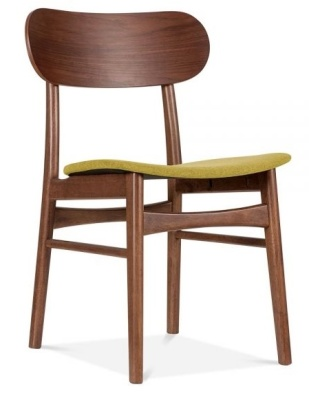 Ontario Dining Chair With An Olive Fabric Seat Angle Shot