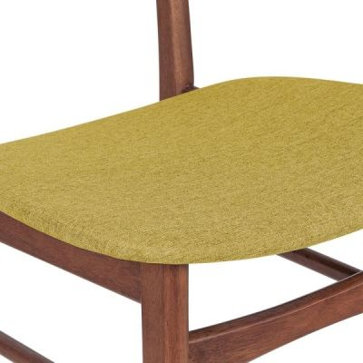 Ontario Chair Olive Fabric Detail