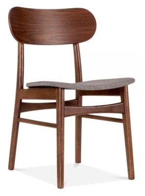 Ontario Dinming Chair With A Light Grey Seat Front Angle