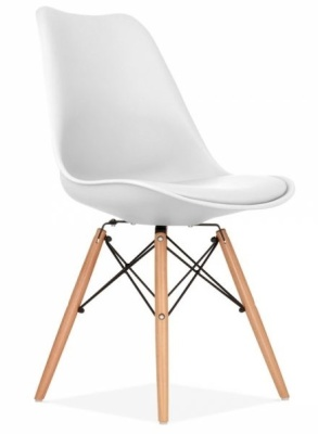 Eames Dsw White Chair With Seat Cushion