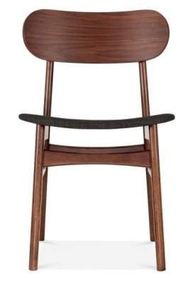 Ontario Dining Chair With A Dark Grey Fabric Seat Front View