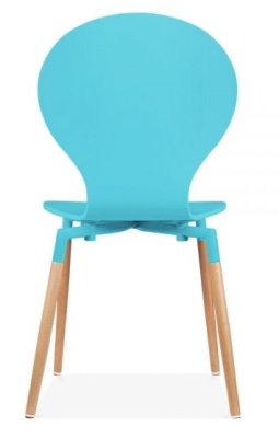 Butterfly Nouveau Chair In Sky Blue Rear View