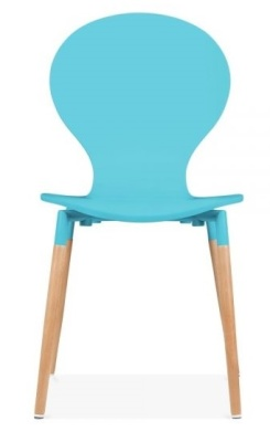 Butterfly Nouveau Chair Sky Blue Front Face