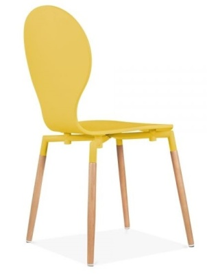 Butterfly Nouveau Chair In Yellow Rear Angle