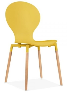 Butterfly Nouveau Chair Front Angle In Yellow